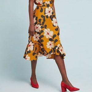 NWT Anthropologie Ikebana Floral Skirt